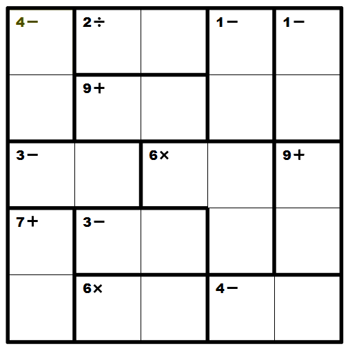 KenKen no formato 5x5